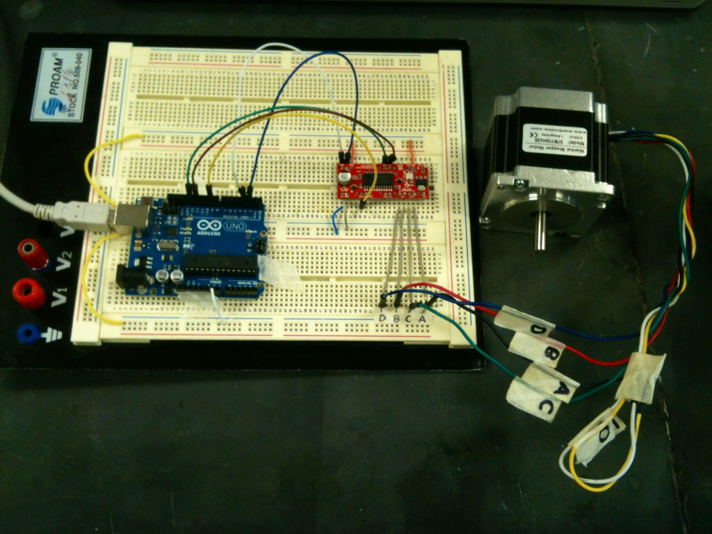 Tyler Fields Blog Page 2 Also Stepper Motor Schematic On L297 Driver Unipolar Another Advantage Of The Trossen Is That Its Shield Plugs Directly Into Arduino Eliminating Need For Breadboard And