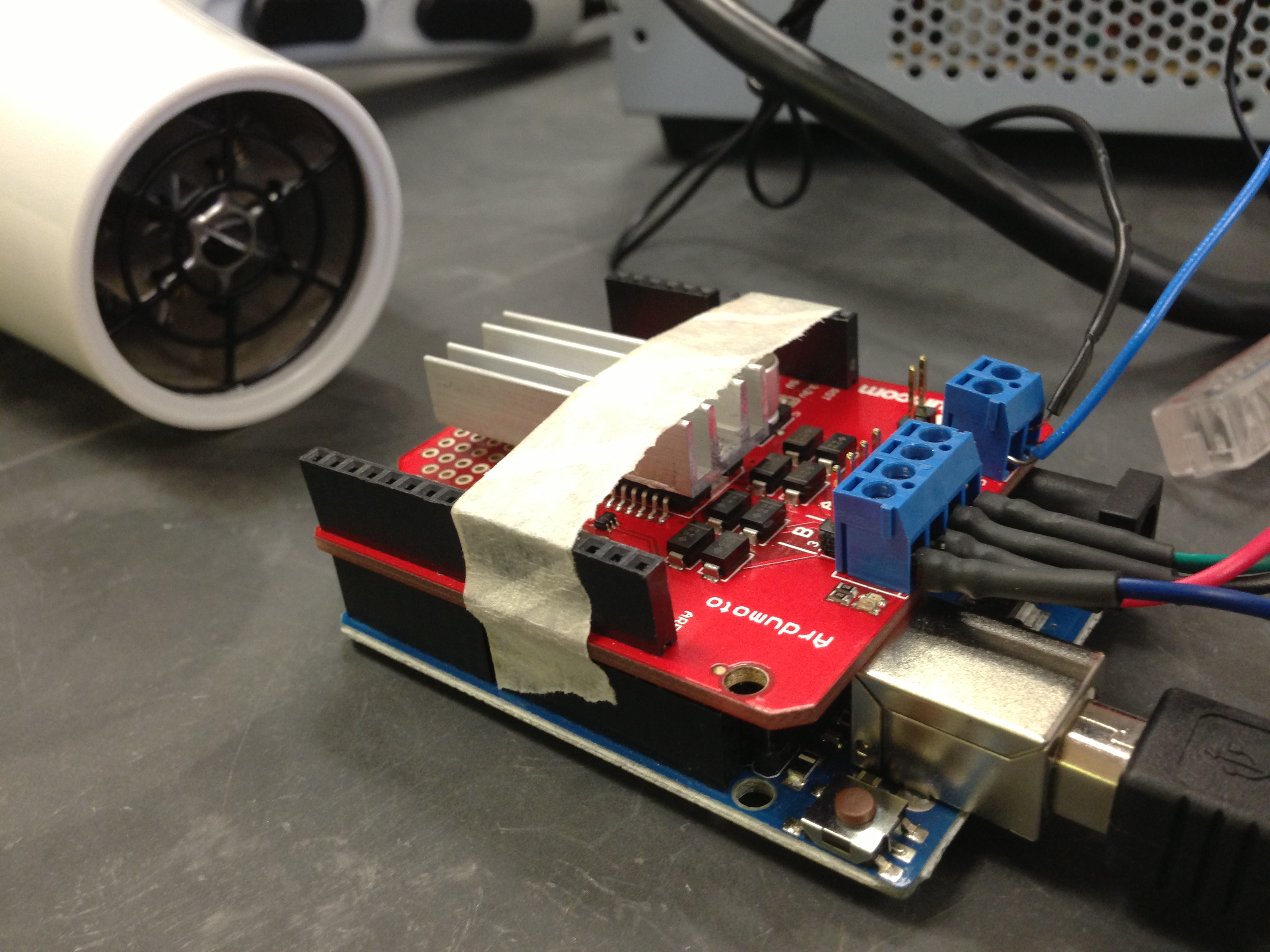 Success with stepper motor by using ATX power supply and heat sink ...